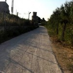 Strada prima dell'intervento