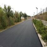 La strada asfaltata di Torre Cerrano